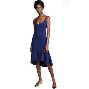 Susana Monaco Ruffle Hem Dress in Deep Sea, size M